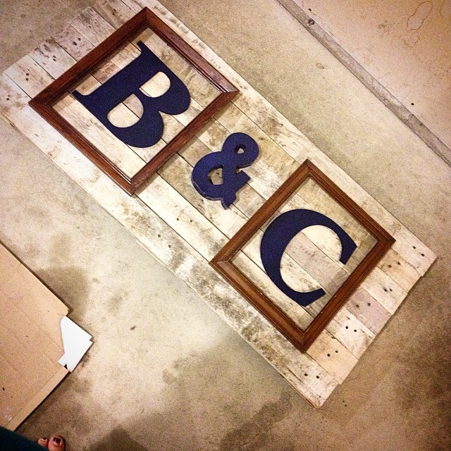 Pallet Art_Framed Monograms